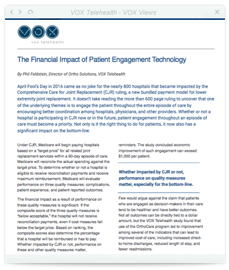 The Financial Impact of Patient Engagement Technology